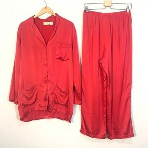 VINTAGE Victoria's Gold Label Secret Silk Pajamas